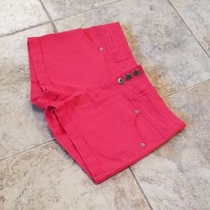 Papaya Good Condition Red Jean Short Shorts